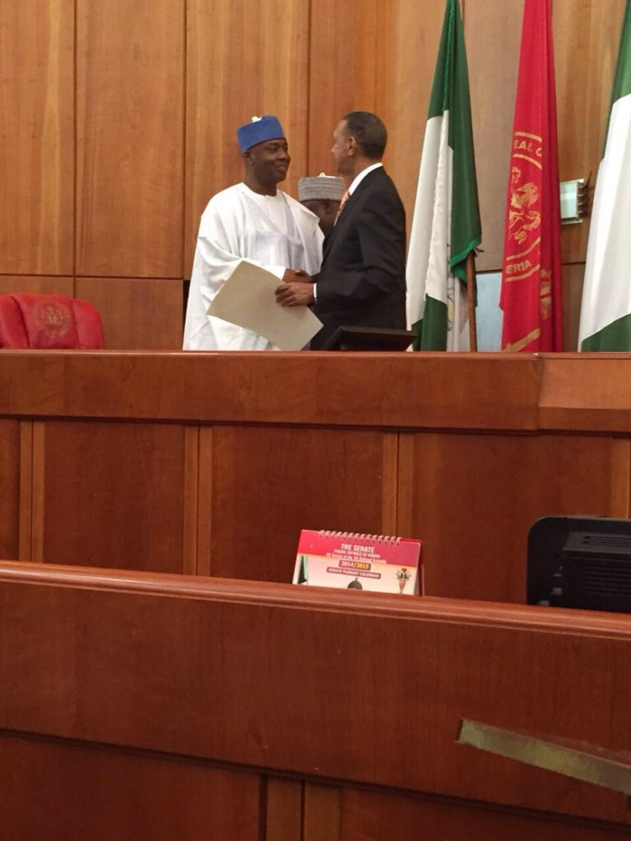 Ben Murray-Bruce with Senator Bukola Saraki